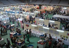 Okinawa Industrial Fair in Naha's Onoyama Park features about everything the prefecture's enterprises produce and sell, both indoors and outside.