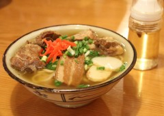 A bowl of soba to an Okinawan is what a hamburger is to an American: Everyday fast food.