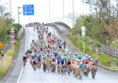 Tour de Okinawa bicycle race route winds through the roads of northern Okinawa this weekend attracting cyclists from all over Japan and overseas.