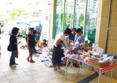 Customers hunt for bargains at last month's flea market.