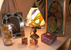 Stained glass can be used in all kinds of everyday objects.