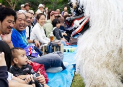 Shishimai (Lion Dance) and other folk entertainment is staged at Shikinaen Garden on Sunday.