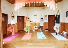 Ayako Ohashi's yoga classes are held in Tamagusuku and Shuri Hills Garden.