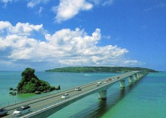 The race course is nothing short of spectacular as it crosses the longest bridge on Okinawa from Yagaji to Kouri Island.