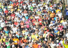 The weather is expected to cooperate when over 10,000 runners cross the Okinawa Marathon 2013 starting line on Sunday.