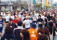 11,612 runners started Sunday's Okinawa Marathon, and 8,576 made it to the finish.