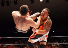 Former sumo champion Akebono is showing his prowess as a pro-wrestler.