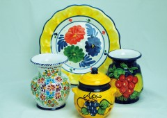 These colorful dishes are from Spain.