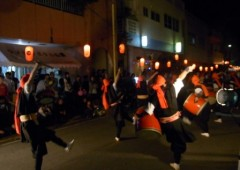 Eisa parade at Kume Firefly Festival.