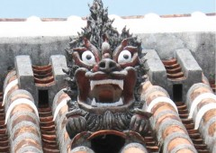 Almost every rooftop in Okinawa is adorned by a shisa often made by the craftsman who built the roof.