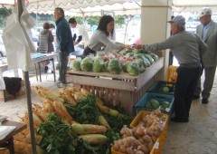 Fresh produce and live entertainment are on the weekend menu at Kadena Rad Station.