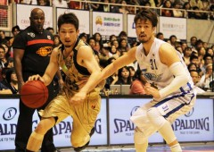 Golden King's new face Ryuichi Kishimoto was in good shape in Sunday's game popping in nine points.