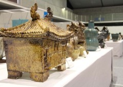 Artifacts, both old and new, are on display at the 65th Okiten Exhibition now open through Sunday.