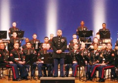 III MEF Band is ready for their joint concert with the University of the Ryukyus Wind Orchestra Thursday night.