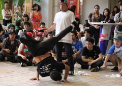 Spectators watch when street dancer put on their best moves at Music Town on May 25.