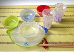Ryukyu glass is colorful and was originally made of recycled glassware using techniques and designs that were developed by local artisans on the island.