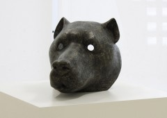 Haunted dog is a realistic face mask of a large dog.