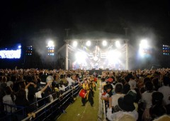 The day-long event at Kaneku Seaside Park in Kadena Town celebrates Okinawan spirit that appreciates singing and dance even in the hardest of times.