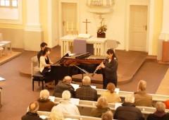 Pianist Mai Teramoto and Flutist Miki Ishiki will perform their highly acclaimed recital of German music at Tedako Hall, Sat.