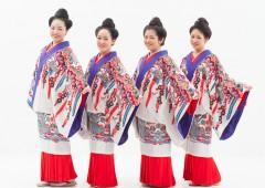 Okinawan 'Shimauta' group Nenees performs in Live House Shimauta.