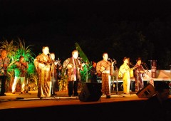 All performers at the Gusuku Shimauta Concert are notable entertainers of the Okinawan folk music genre.