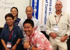 Ecotourism Panelists from left to right Ms. Akiko Ishigaki, Dr. Yurie Kaizu, Johannes Subijanto, Keiichiro Nakamura and Ralf Buckley