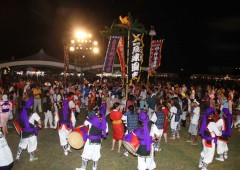 Eisa and other traditional Okinawan entertainment is a big part of Unna Festival.