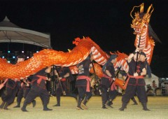 Urasoe Tedako Festival has an emphasis on cultural entertainment besides the usual food and game booths.