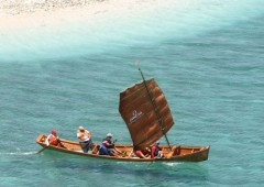 "Sailing a traditional wooden Okinawan ""sabani"" is not your everyday boating experience."