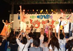 The highlight of the annual Ginowan Hagoromo Festival is the Kachashi contest on Sunday that anyone can take part in.