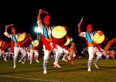 Yanbaru Eisa Festival entertains on Sunday evening at Motobu's Tancha Park.