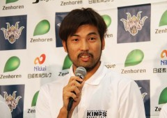 Shigeyuki Kinjo takes the helm as the team captain after two and half year absence from the court because of an injury.