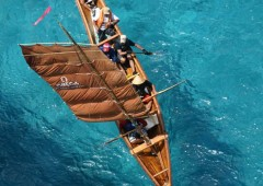 Sailing a traditional narrow Okinawan sabani is a tricky business, especially as it has no keel.