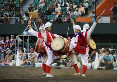 The two-day event features Eisa groups from various locations around the prefecture.