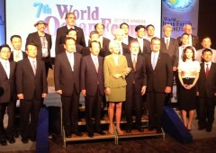 "Participants of ""The World Ocean Forum"" that was held in Seoul a week ago."