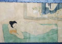 Exhibition at Hiyamikachi Machiguwa Museum in Naha displays 29 paintings from Meiji and Taiso eras depicting beautiful Ryukyu women.
