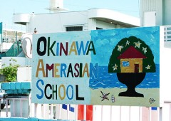 Okinawa AmerAsian School is located in a residential area in Ginowan.