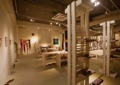 Gallery Kufuu in Ginowan features wooden pieces of art and wooden handicrafts in an exhibition that is open through the weekend.
