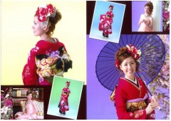 Young people traditionally dress in their best as they get ready for the Coming of Age Day, Monday, like Ayaka Nagasaki in this commemorative set of photos.