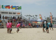 Beach soccer is a fast-paced game that s also fun to watch and gaining popularity. (Picture of 2013 USA Cup Beach Soccer Tournament in San Diego, CA)