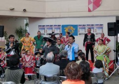 The Okinawa International Festival features various entertainment acts from different countries.