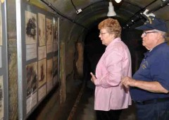 Lloyd and Judy Glick toured Okinawa for the first time in 59 years, including a visit to former Imperial Navy Underground Headquarters.