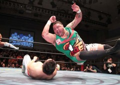 Akebono masters pro-wrestling moves as well as he used to dominate the sumo ring.
