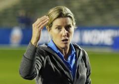 UCLA Bruins women's soccer team Head Coach Amanda Cromwell.