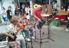 Local entertainers perform throughout the day.