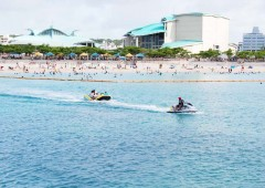 Tropical Beach in Ginowan offers free marine activity experiences as a part of their season opening activities.