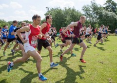 Runners take to the road at Corporate Games in London.