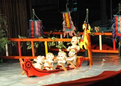 A Chinese puppet rendition of a folk tale.