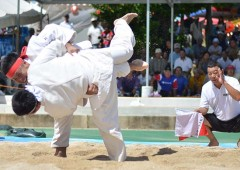 Okinawan sumo is a local favorite at Kin Festival.
