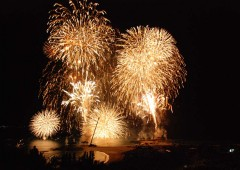 Okinawa's largest fireworks show lights the skies above the Ocean Expo Park in Motobu this Sunday.